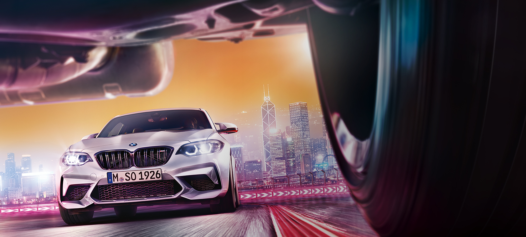 BMW M2 Competition F87 2018 Hockenheim Silver metallic front view